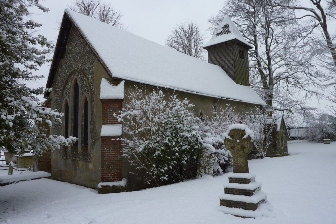 Enham in snow